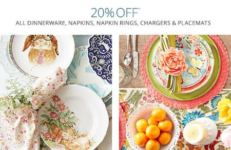 20% Off Select Items from Pier 1 Imports