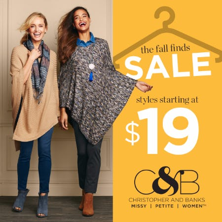 Fall Finds Sale