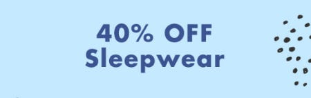 40% Off Sleepwear from Justice