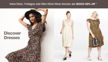 BOGO 50% Off Dresses from Target