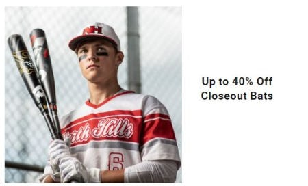Up to 40% Off Closeout Bats