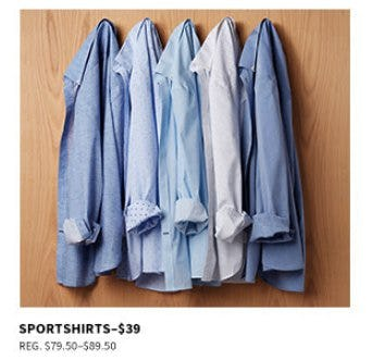$39 Sportshirts from Jos. A. Bank