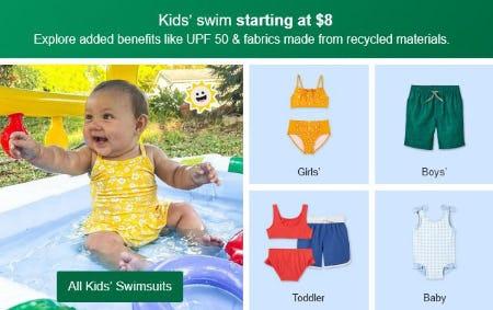 Kid's Swim Starting at $8 from Target