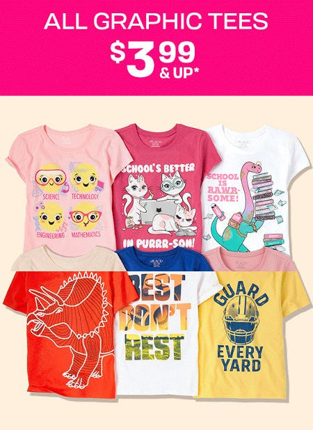 All Graphic Tees $3.99 and Up