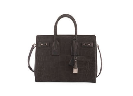 Saint Laurent Sac de Jour Small Croco Carryall Bag from Neiman Marcus