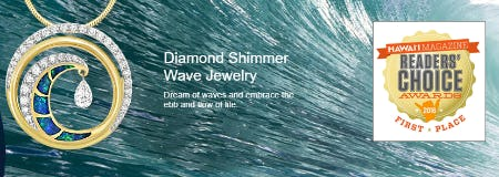 Diamond Shimmer Wave Jewelry from Na Hoku