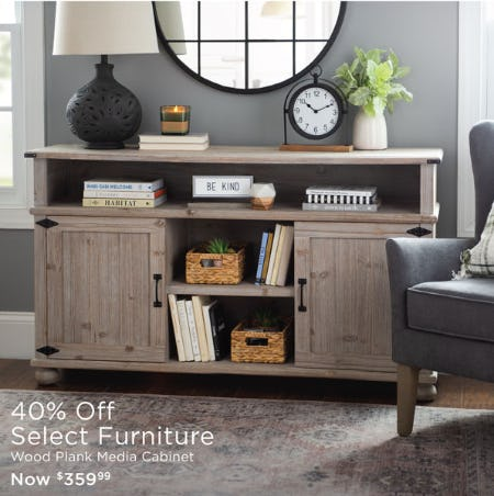 40% Off Select Furniture from Kirkland's
