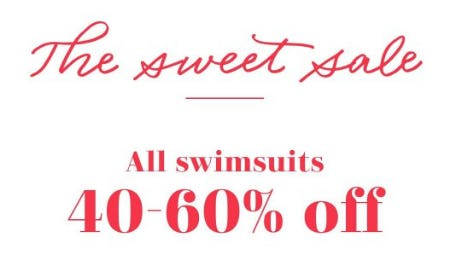 All Swimsuits 40-60% Off