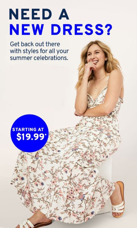 New Dress Savings from Marshalls