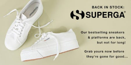 Back in Stock: The Superga from Garage