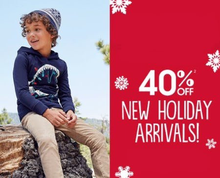 40% Off New Holiday Arrivals