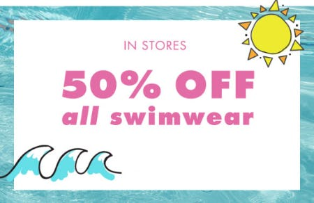 50% Off All Swimwear from Justice