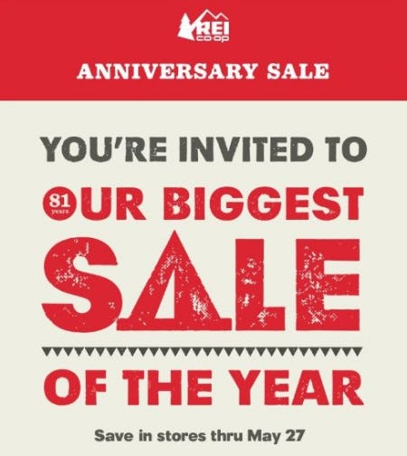 Anniversary Sale from REI