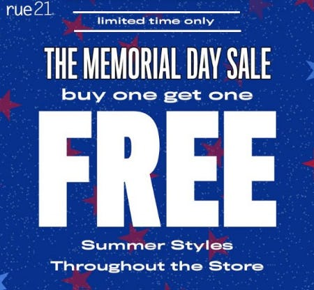 BOGO FREE Throughout the Store from rue21