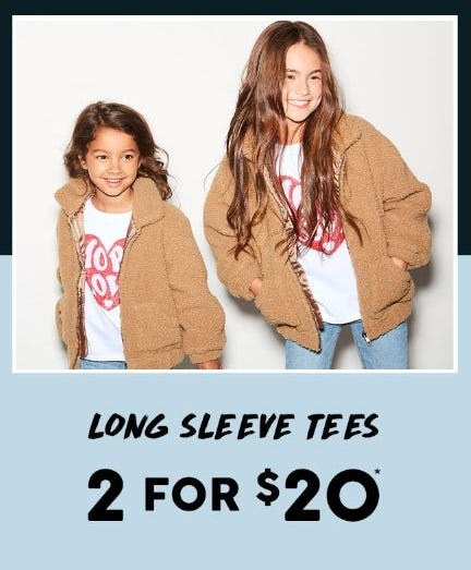 2 for $20 Long Sleeve Tees from Cotton On