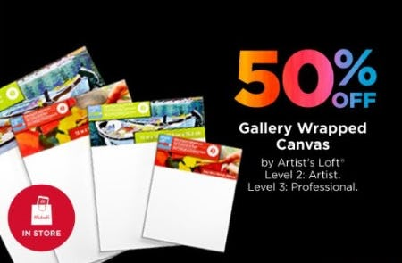 50% Off Gallery Wrapped Canvas by Artist's Loft at Michaels | Brass