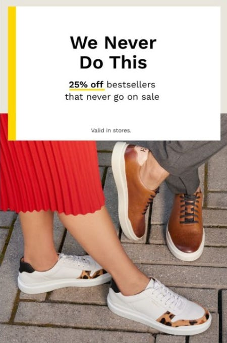 25% Off Bestsellers that Never Go on Sale from Cole Haan