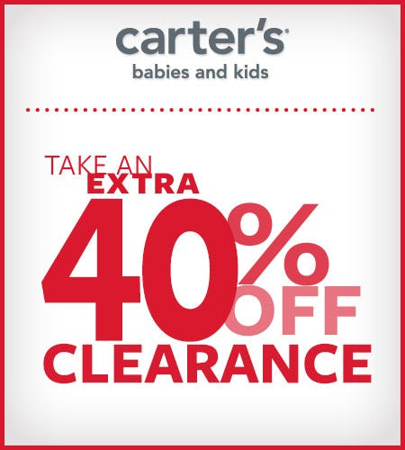 Take An Extra 40% Off Clearance from Carter's