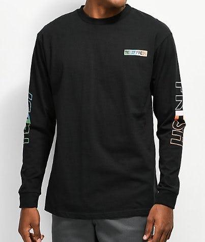 Teddy Fresh Tones Black Long Sleeve T-Shirt from Zumiez