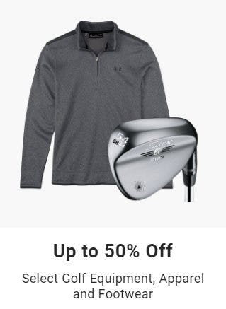 Up to 50% Off Select Golf Equipment, Apparel & Footwear from Dick's Sporting Goods