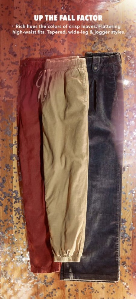 Shop New Corduroy Pants