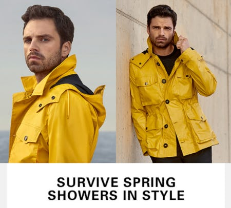 Water Resistant Jackets for Wet Weather from Hugo Boss