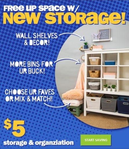 $5 Storage and Organization