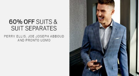 60% Off Suits & Suit Separates from Men's Wearhouse and Tux